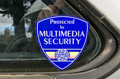 1980s Protected by Multimedia Security sticker