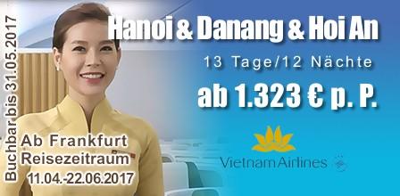 Sonderangebote von Vietnam Airlines
