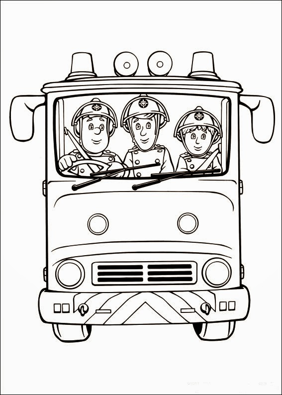 Fun Coloring Pages Fireman Sam
