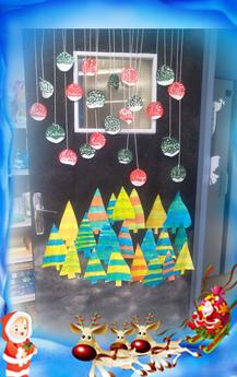 Décoration de porte pour Décembre