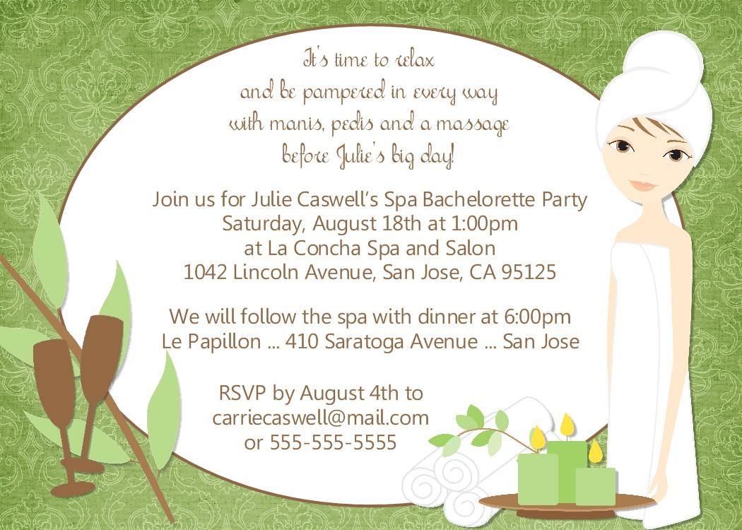 Bear River Photo Greetings Spa Party Invitation