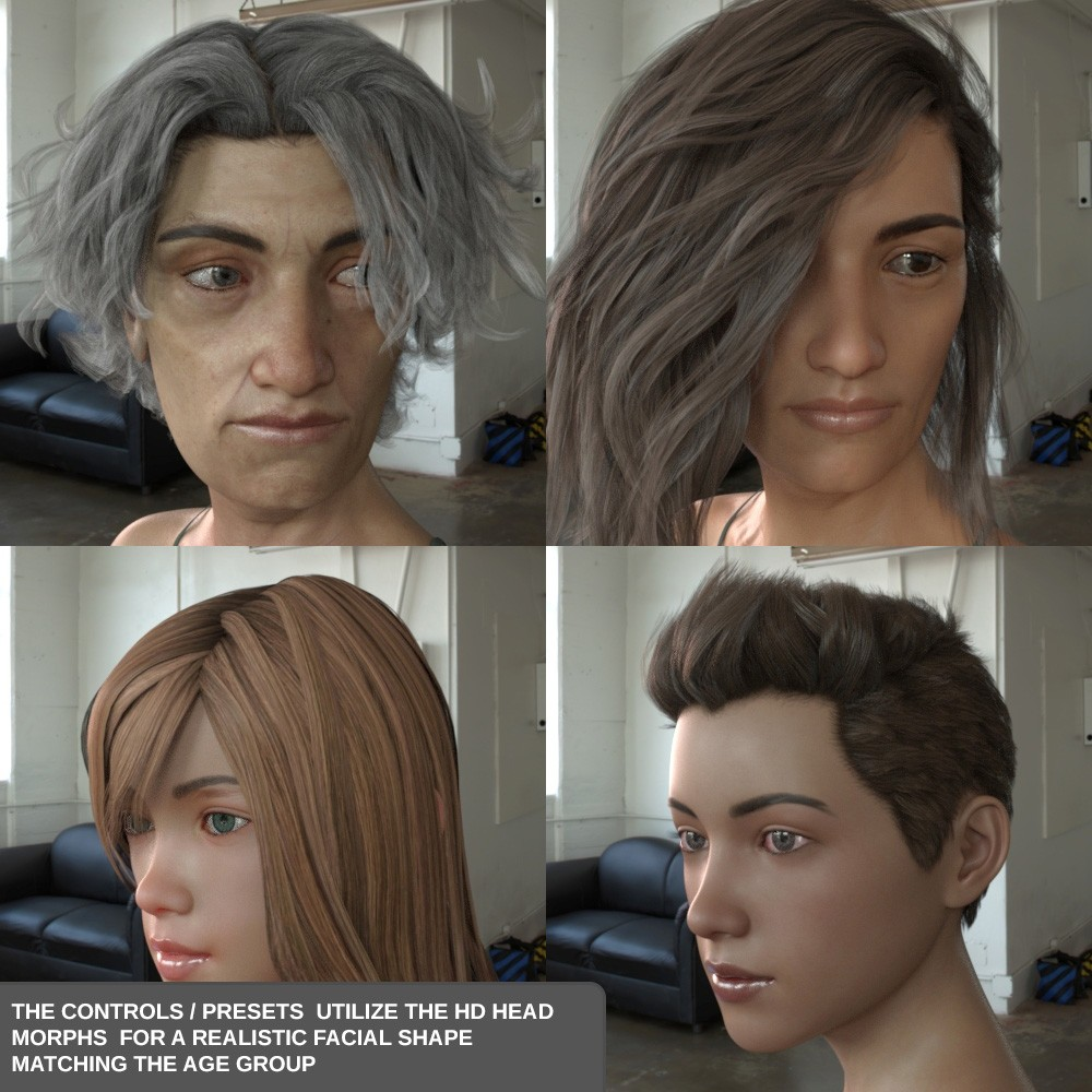 Download DAZ Studio 3 for FREE!: Easy Shape Master - Age