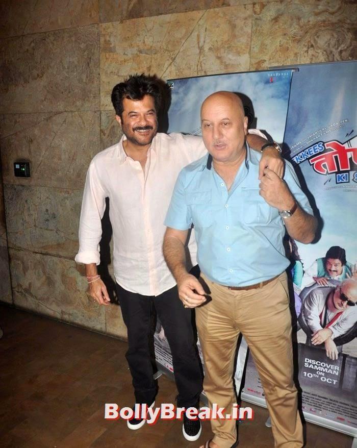 Anil Kapoor, Anupam Kher, 'Ekkis Topon Ki Salami' Special Screening Photos