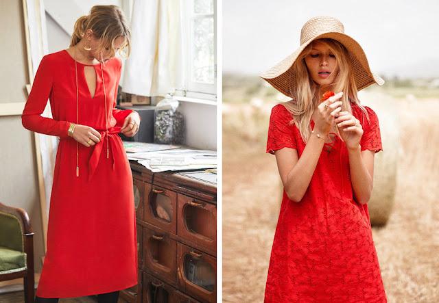 Как носить ярко-красный цвет