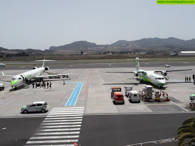 La crisis sanitaria y la baja ocupación obliga a restringir aún más las conexiones aéreas con la península que se limitarán a varios vuelos semanales con Madrid, Barcelona y Sevilla
