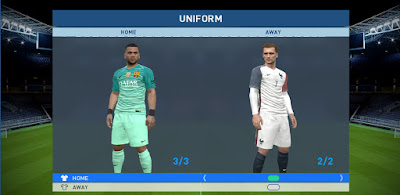 PES 2017 FC Barcelona Third Kit by manouch115