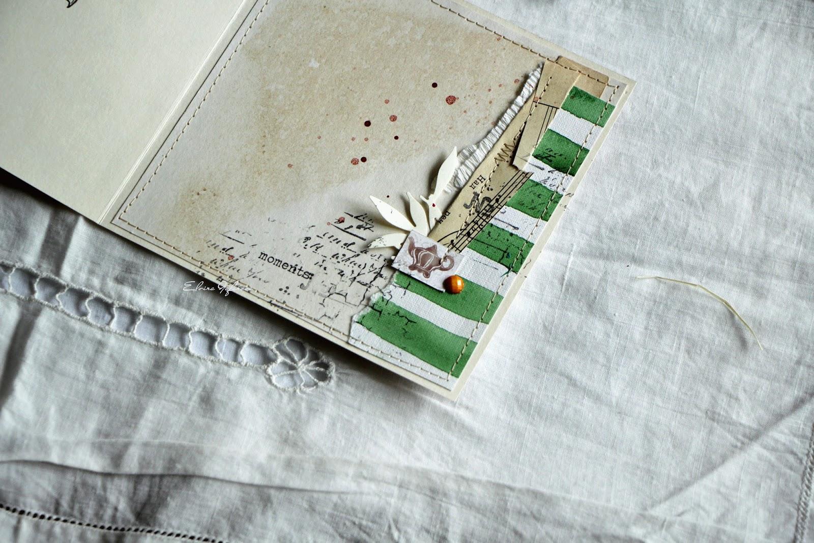 Скрапбукинг оформление открытки с обратной стороны, открытки для цветов