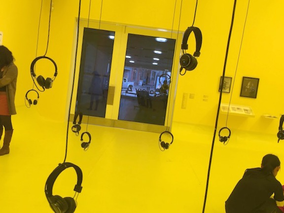 Family Activities in Nottingham | Morgan's Milieu: Music to listen to, draw while in the yellow room too. Check out the Nottingham Contemporary theme.