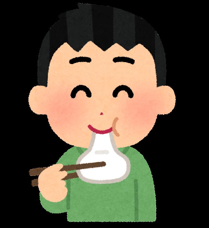 お餅を食べる人のイラスト男性 かわいいフリー素材集 いらすとや