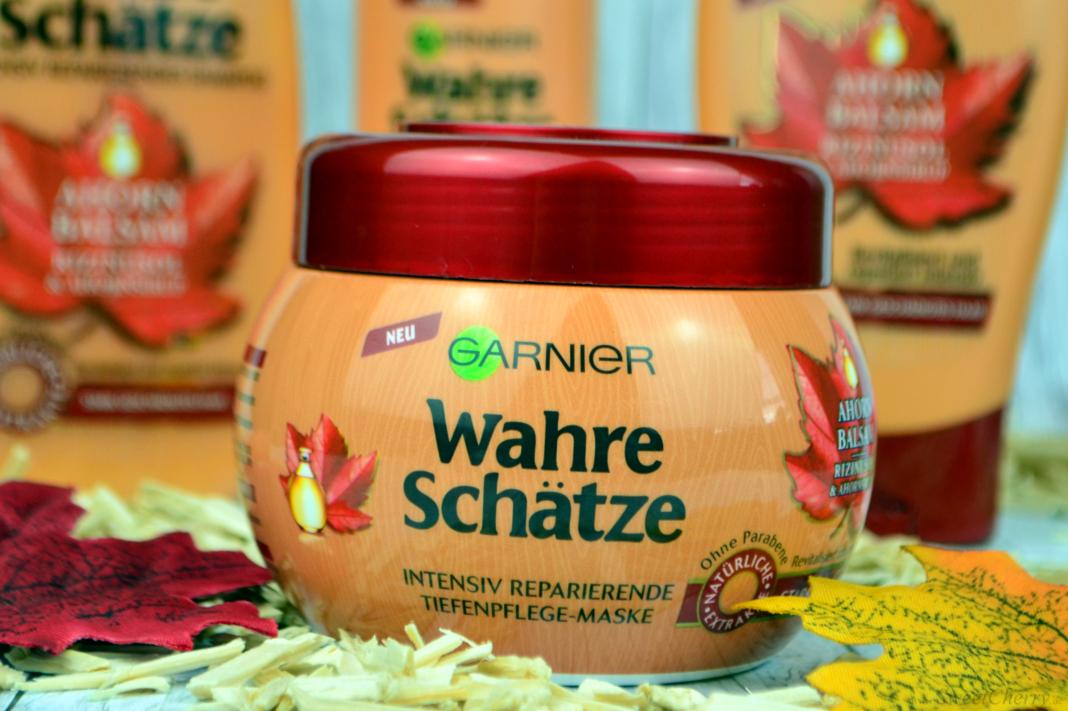 Garnier Wahre Schätze Ahorn Balsam Intensiv reparierende Tiefenpflege-Maske