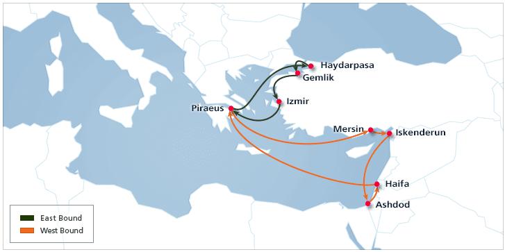 East Mediterranean 2 | Hanjin Shipping
