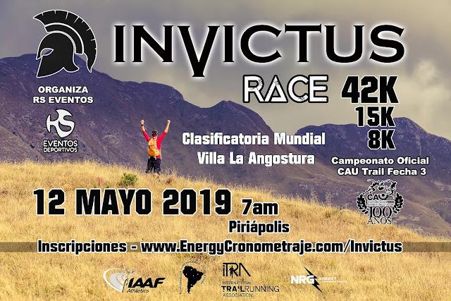 42k 15k 8k Invictus race (trail run, Piriápolis - Maldonado, 12/may/2019)