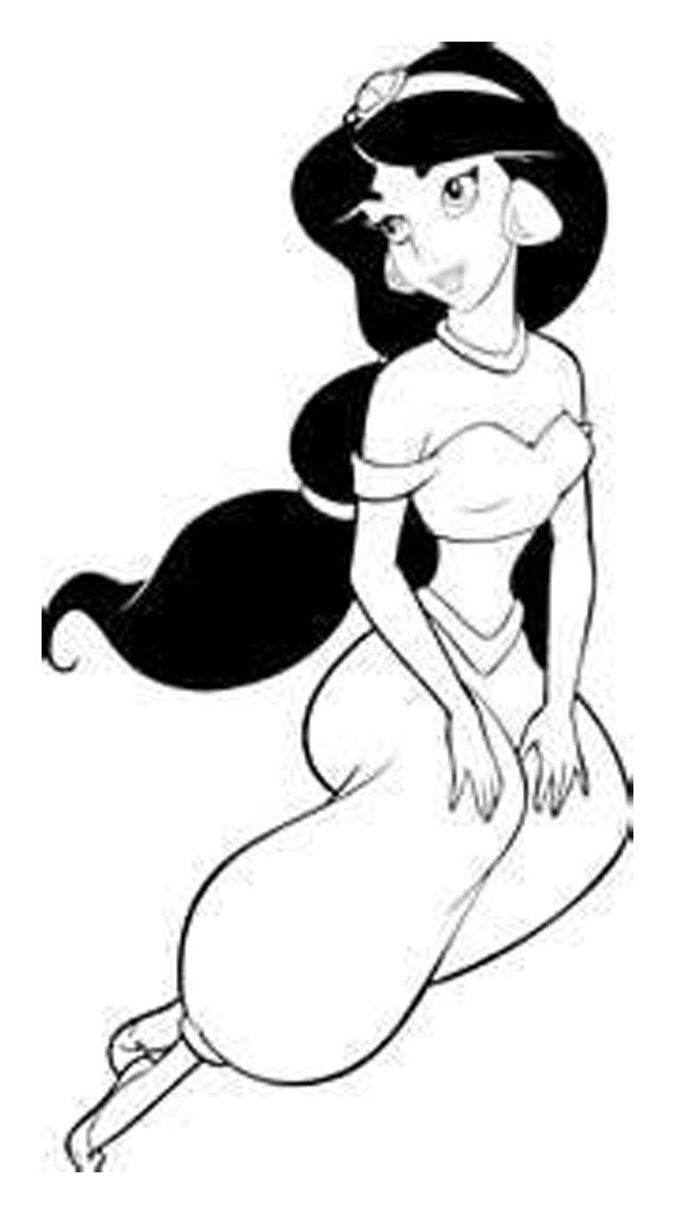 disney princess coloring pages jasmine - photo#6