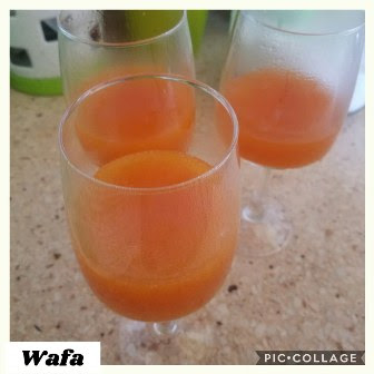 تحلية البرتقال والكريمة لذيذة