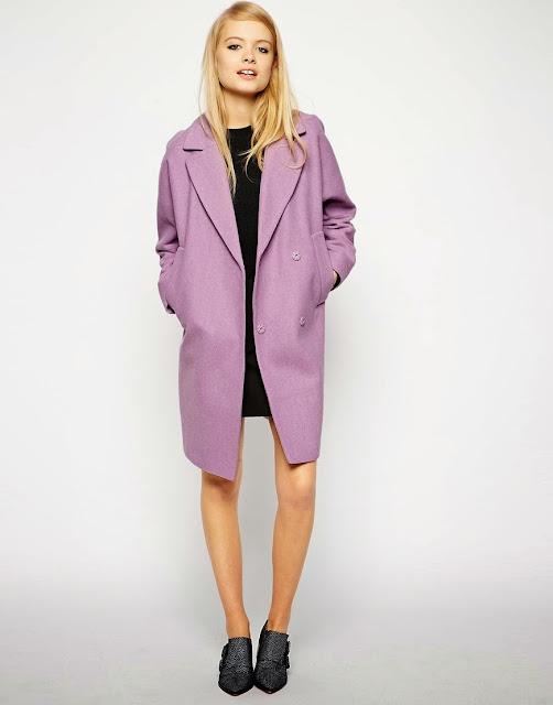 lilac wool coat