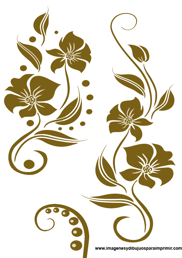 Imagenes de flores para bordar imagenes y dibujos para - Cenefas para espejos ...
