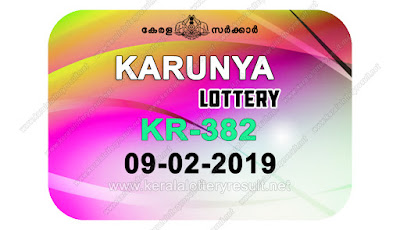 KeralaLotteryResult.net, kerala lottery kl result, yesterday lottery results, lotteries results, keralalotteries, kerala lottery, keralalotteryresult, kerala lottery result, kerala lottery result live, kerala lottery today, kerala lottery result today, kerala lottery results today, today kerala lottery result, Karunya lottery results, kerala lottery result today Karunya, Karunya lottery result, kerala lottery result Karunya today, kerala lottery Karunya today result, Karunya kerala lottery result, live Karunya lottery KR-382, kerala lottery result 09.02.2019 Karunya KR 382 09 February 2019 result, 09 02 2019, kerala lottery result 09-02-2019, Karunya lottery KR 382 results 09-02-2019, 09/02/2019 kerala lottery today result Karunya, 09/02/2019 Karunya lottery KR-382, Karunya 09.02.2019, 09.02.2019 lottery results, kerala lottery result February 09 2019, kerala lottery results 09th February 2019, 09.02.2019 week KR-382 lottery result, 09.02.2019 Karunya KR-382 Lottery Result, 09-02-2019 kerala lottery results, 09-02-2019 kerala state lottery result, 09-02-2019 KR-382, Kerala Karunya Lottery Result 09/02/2019