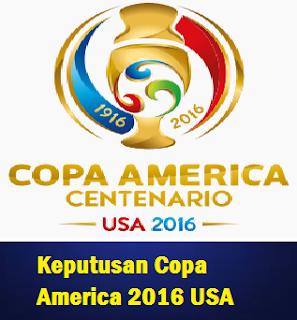 jadual dan Keputusan Copa America 2016 USA Waktu Malaysia
