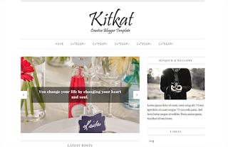 KitKat Simple Blogger Template