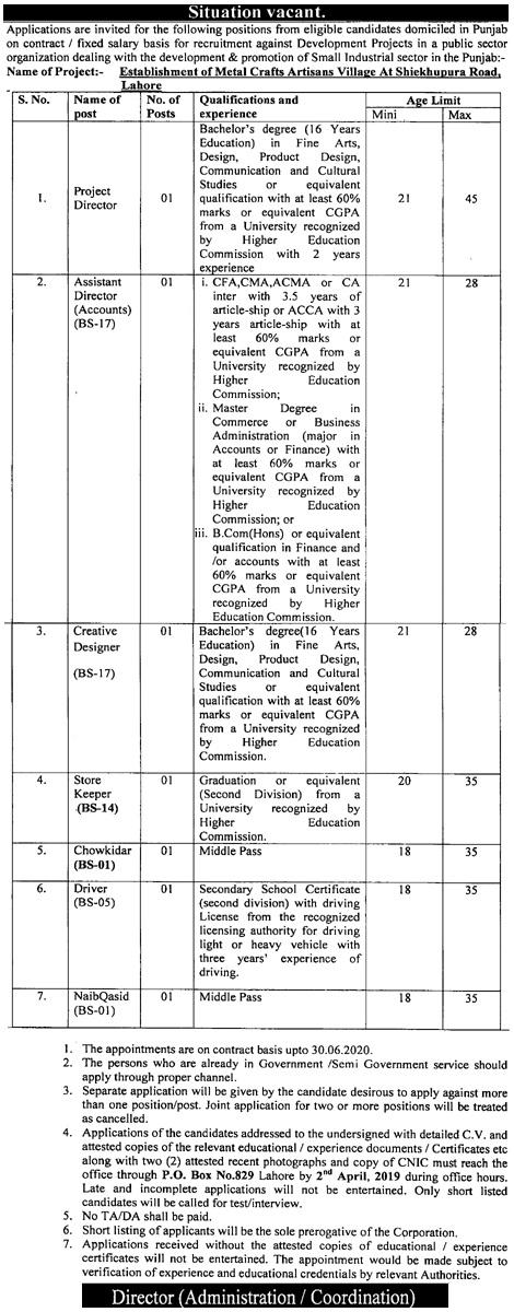 Public Sector Organization Jobs In Pakistan