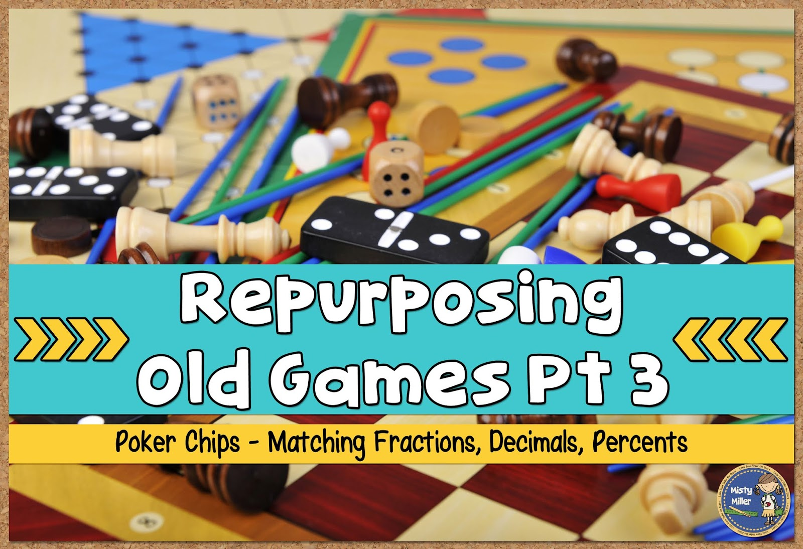 Repurpose Old Games - Poker Chips | Little Room Under the