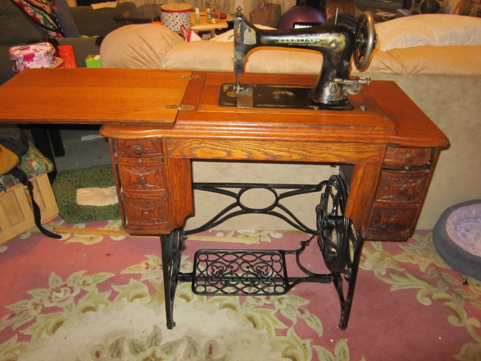 Missys Homemaking Adventures Treadle Sewing Machine And A Winner