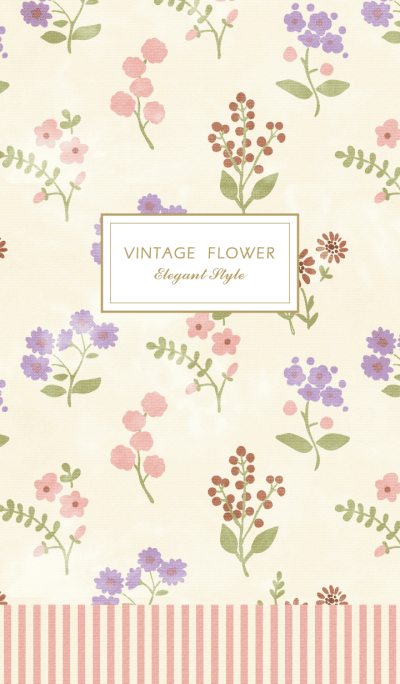Elegant Vintage Flower world