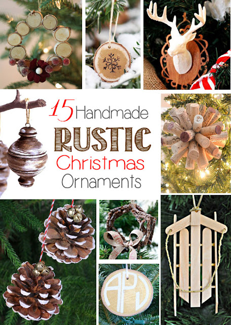 pinecones, popsicle stick sled, wooden slice wreath, twig wreath, cork star