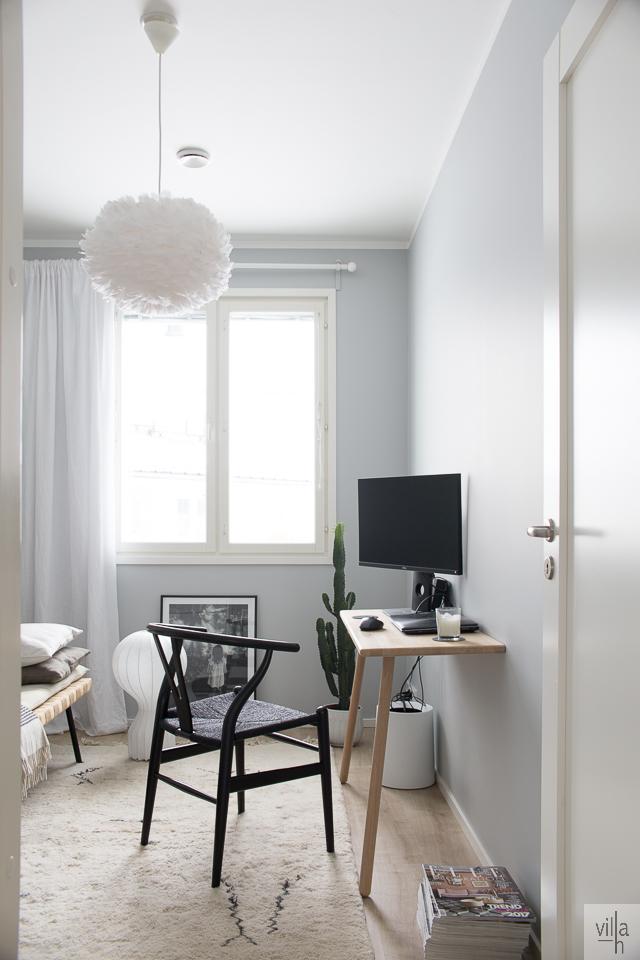 villa h blogi, sisustus, työhuone, skagerak työpöytä