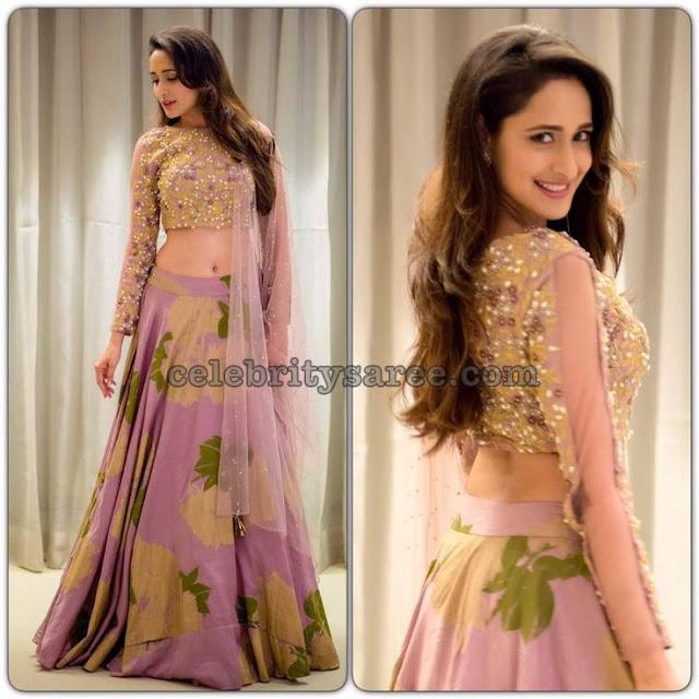Pragya Jaiswal Designer Heavy Work lehengas2