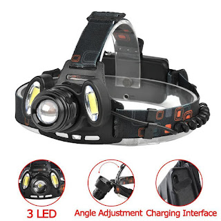 22000 LM T6 +COB 3 LED Zoom Headlamp Waterproof 18650 Camping Flashlight Lamp WT