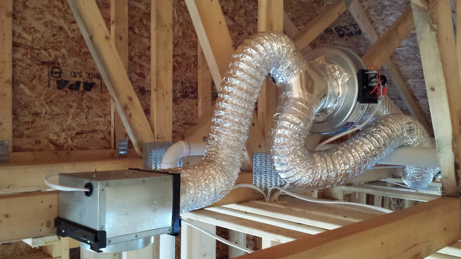The Impatient Home Builder Vent Fans Amp Garage Doors