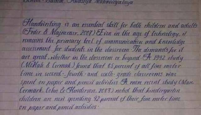 Tulisan Tangan Tercantik di Dunia, Setiap Hurufnya Menghabiskan Waktu 2 jam
