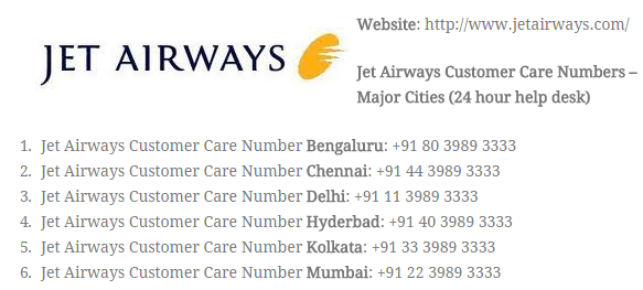 jet airways customer service