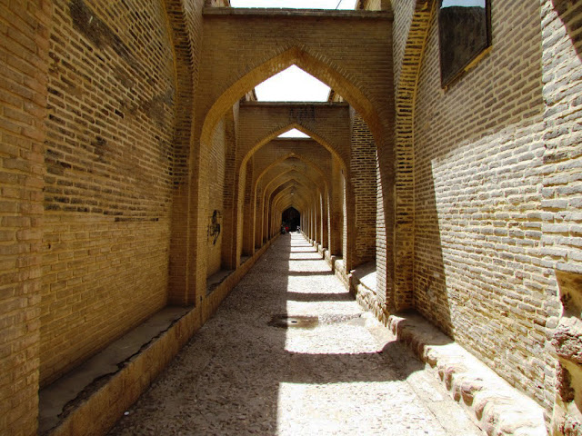 Old alleys in Sange Sia Passage. Shiraz, Iran