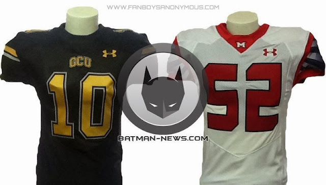 Batman Football Jersey vs Superman Football Jersey