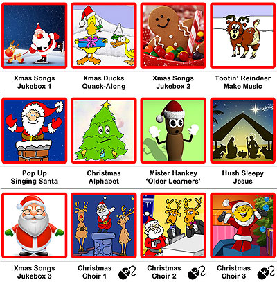 SENICT Christmas switch, eye-gaze and pointer activities.