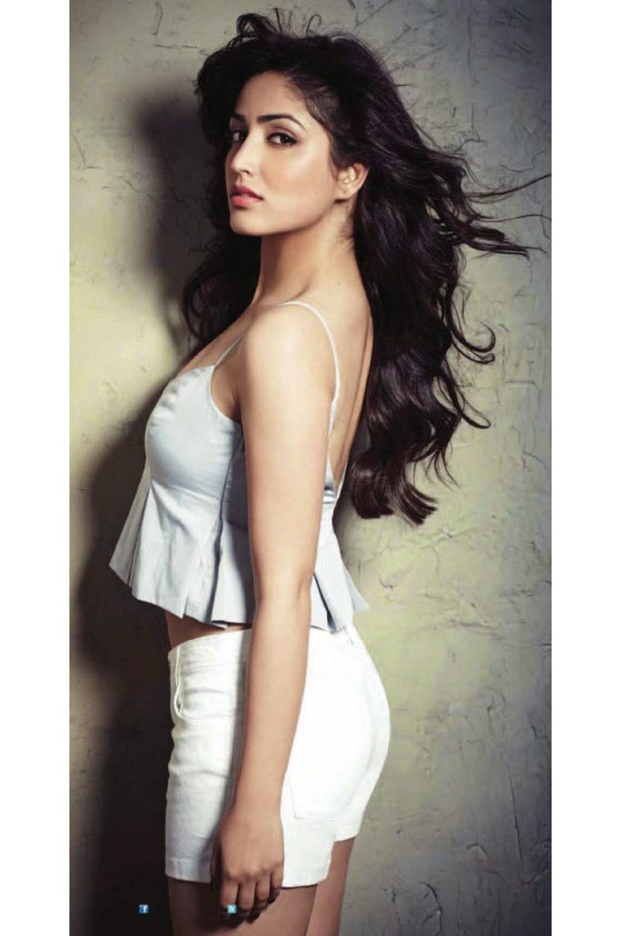 Yami Gautam in white top & hot-pants in FHM Magazine