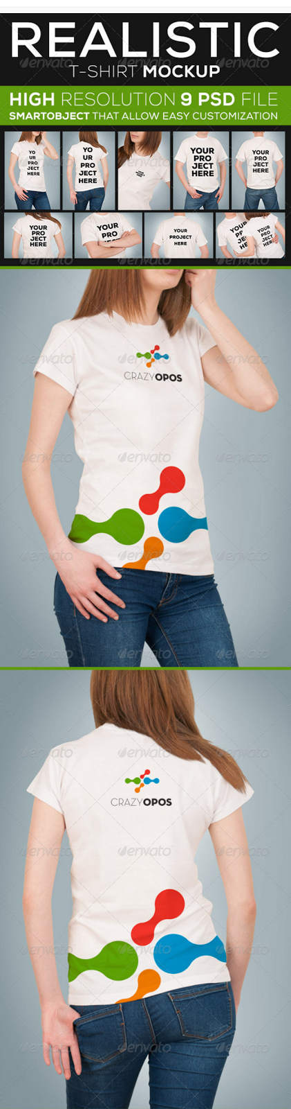 6. Realistic T-shirt Mockup