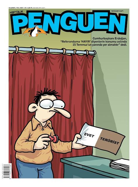 Penguen Dergisi | 16 Şubat 2017 Kapak Karikatürü