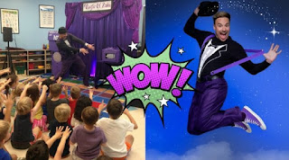 Childrens magician performing birthday party magic show in VA