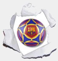 Bola com escudo do Barcelona