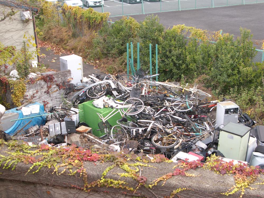 One of Tokyo's illegal neighborhood trash dumps.