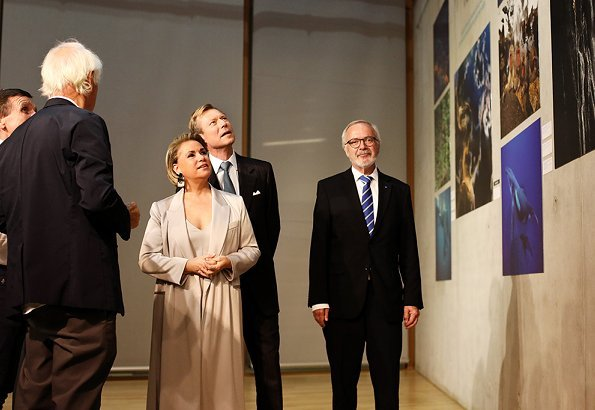 Grand Duke Henri and Grand Duchess Maria Teresa visited Yann Arthus-Bertrand and Philippe Bourseiller's photograph exhibition