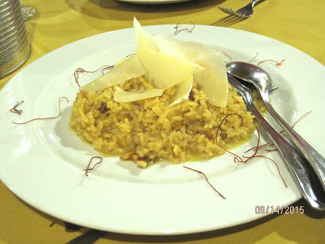 risotto with saffron threads