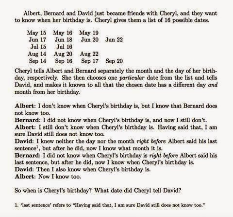 Next Level Cheryl Birthday Question