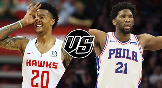 Live Streaming List: Atlanta Hawks vs Philadelphia 76ers 2018-2019 NBA Season