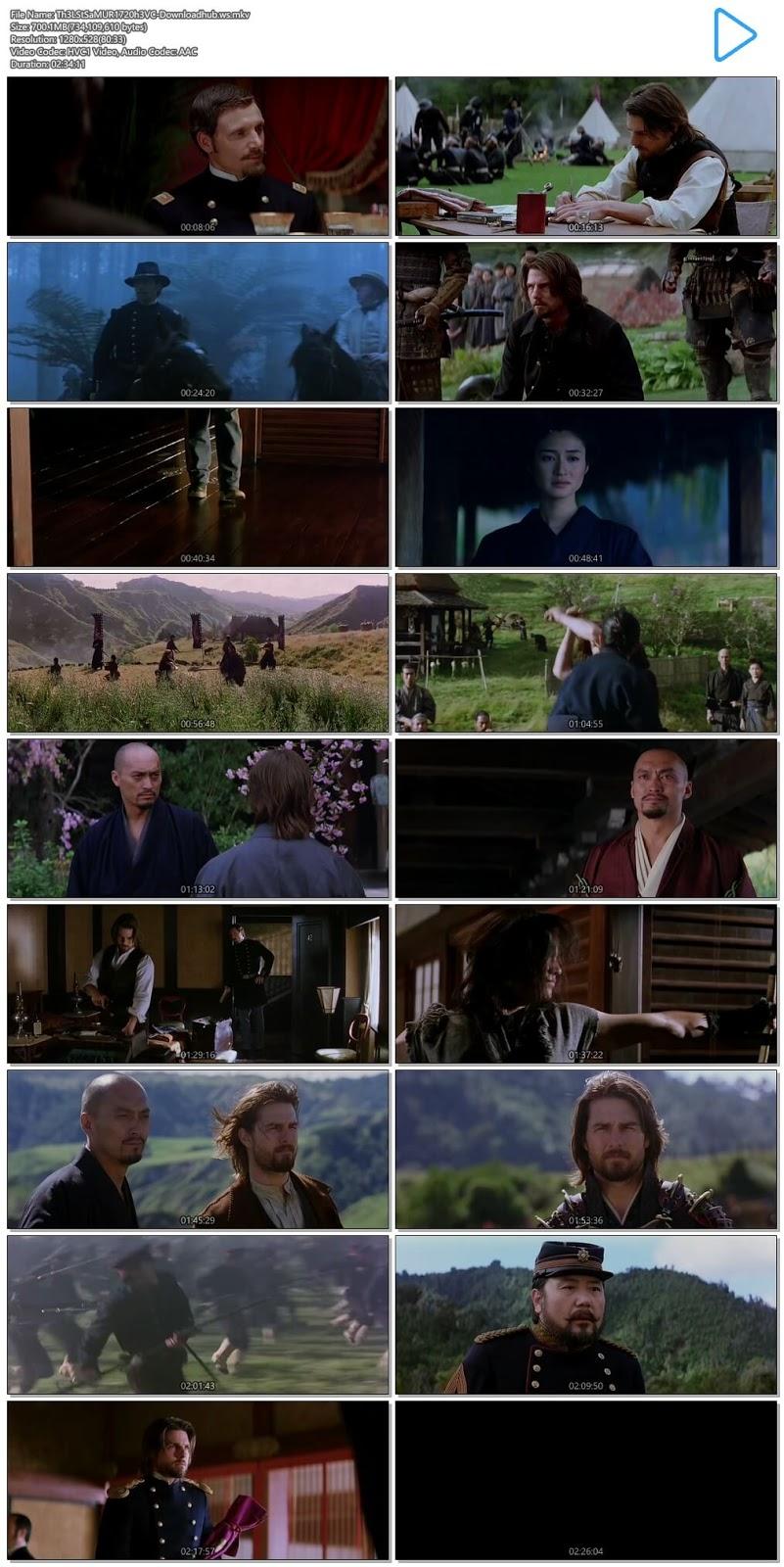 The Last Samurai 2003 Hindi Dual Audio 720p HEVC BluRay Free
