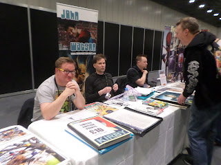 Russell Payne, John Watson and JK Woodward at LSCC 2016 comic artists