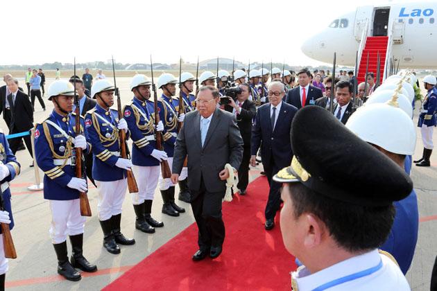 Visite de Bounnhang Vorachith, Président du Laos